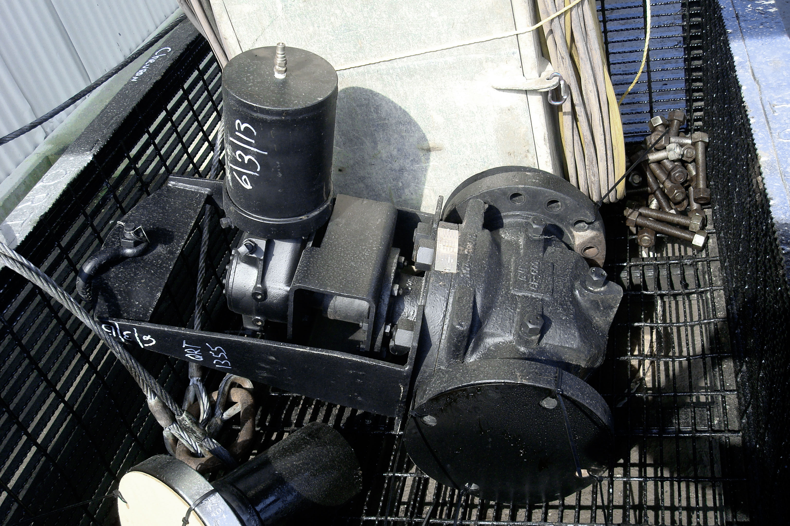plus ten valve, studs and nuts basket